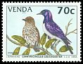 Cl: Violet-backed Starling (Cinnyricinclus leucogaster)(Repeat for this country) SG 274 (1994) 150