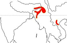 Rufous-vented Laughingthrush map