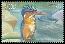 Cl: Malachite Kingfisher (Alcedo cristata) <<Pica-peixe torquesa>>  SG 1571 (2000) 200
