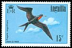 Cl: Magnificent Frigatebird (Fregata magnificens) <<Man-o-war>> (Repeat for this country)  SG 661 (1985) 175