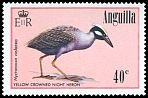 Cl: Yellow-crowned Night-Heron (Nyctanassa violacea)(Repeat for this country)  SG 666 (1985) 175