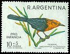 Cl: Scarlet-headed Blackbird (Amblyramphus holosericeus) <<Federal>>  SG 1191 (1967) 230