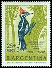Cl: Lineated Woodpecker (Dryocopus lineatus) <<Carpintero listado mancha blanca>>  SG 1265 (1969) 275