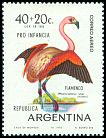 Cl: Chilean Flamingo (Phoenicopterus chilensis) <<Flamenco>>  SG 1294 (1970) 250