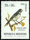 Cl: Double-collared Seedeater (Sporophila caerulescens) <<Corbatita com&uacute;n>>  SG 1441 (1974) 200