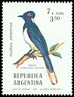 Cl: Plush-crested Jay (Cyanocorax chrysops) <<Urraca>>  SG 1517 (1976) 140