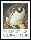 Cl: Rockhopper Penguin (Eudyptes chrysocome) <<Pinguino de penacho amarillo>>  SG 1858a (1983) 40