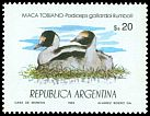 Cl: Hooded Grebe (Podiceps gallardoi) <<Maca tobiano>>  SG 1885 (1984) 160
