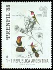 Cl: Ruby-topaz Hummingbird (Chrysolampis mosquitus) SG 2136 (1988) 75