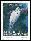 Cl: Great Egret (Ardea alba) <<Garza blanca>>  SG 2341 (1993) 275