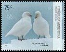Cl: Snowy Sheathbill (Chionis alba) <<Paloma Antartica>> (Endemic or near-endemic)  SG 3235 (2007) 160 [4/14]