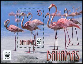 Cl: Caribbean Flamingo (Phoenicopterus ruber)(Repeat for this country) (I do not have this stamp)  SG 1620 (2012)