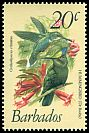 Cl: Antillean Crested Hummingbird (Orthorhyncus cristatus) <<Dr Booby>>  SG 628 (1979) 20