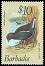 Cl: Common Moorhen (Gallinula chloropus) <<Red-seal Coot>>  SG 638 (1979) 450