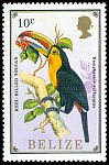 Cl: Keel-billed Toucan (Ramphastos sulfuratus)(Repeat for this country)  SG 963 (1986) 175
