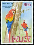 Cl: Scarlet Macaw (Ara macao)(Repeat for this country)  SG 1305 (2003) 125