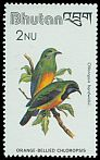 Cl: Orange-bellied Leafbird (Chloropsis hardwickii) SG 445 (1982) 70