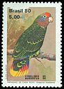 Cl: Red-tailed Parrot (Amazona brasiliensis) SG 1867 (1980) 80
