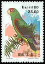 Cl: Red-spectacled Parrot (Amazona pretrei) <<Charao>>  SG 1868 (1980) 525