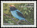 Cl: Blue Manakin (Chiroxiphia caudata) <<Tangara ou Dancador>> (Repeat for this country) (not catalogued)  (2004)  [5/4]