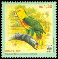 Cl: Yellow-faced Parrot (Amazona xanthops) <<Papagaio-Galego>>  SG 3207d (2001) 250 [1/10]