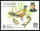 Cl: Bulwer's Pheasant (Lophura bulweri) <<Ayam Hutan>> (Endemic or near-endemic)  SG 679 (2001) 110