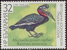Cl: Abyssinian Ground-Hornbill (Bucorvus abyssinicus)(Out of range)  SG 3523 (1988) 75