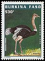 Cl: Ostrich (Struthio camelus) <<Autruche>> (Repeat for this country)  new (1998)