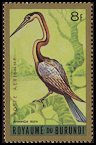 Cl: African Darter (Anhinga rufa)(Repeat for this country)  SG 143 (1965) 60 [3/18]