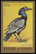 Cl: Abyssinian Ground-Hornbill (Bucorvus abyssinicus)(Repeat for this country)  SG 148 (1965) 225 [3/18]