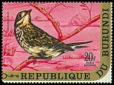 Cl: Meadow Pipit (Anthus pratensis)(Out of range)  SG 575 (1970) 210