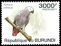 Cl: Grey Parrot (Psittacus erithacus)(I do not have this stamp)  new (2011)
