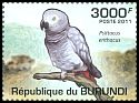 Cl: Grey Parrot (Psittacus erithacus)(Repeat for this country)  new (2011)  [7/45]