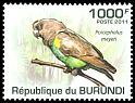 Cl: Meyer's Parrot (Poicephalus meyeri)(I do not have this stamp)  new (2011)