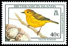Cl: Yellow Warbler (Dendroica petechia) SG 736 (1990) 250