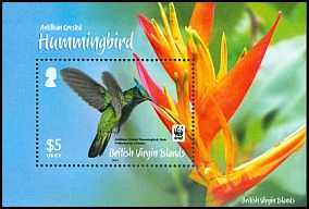 Cl: Antillean Crested Hummingbird (Orthorhyncus cristatus)(Repeat for this country)  SG 1282 (2014) 900