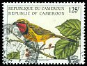 Cl: Four-coloured Bushshrike (Telophorus viridis) <<Pie-grieche>> (Out of range)  SG 1200 (1998) 65