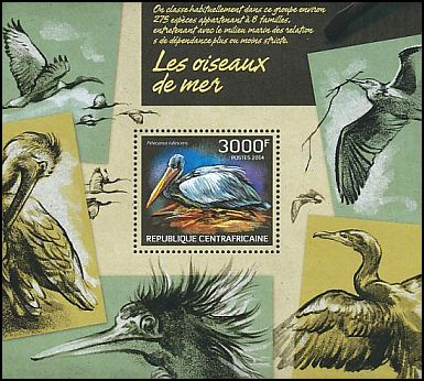 Cl: Pink-backed Pelican (Pelecanus rufescens)(I do not have this stamp)  new (2014)