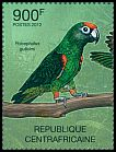 Cl: Red-fronted Parrot (Poicephalus gulielmi)(Repeat for this country) (I do not have this stamp)  new (2012)