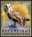 Cl: African Grass-Owl (Tyto capensis)(Repeat for this country) (I do not have this stamp)  new (2015)