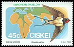 Cl: Barn Swallow (Hirundo rustica) SG 63 (1984) 45