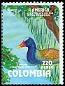 Cl: Purple Gallinule (Porphyrio martinica) <<Tingua>> (Repeat for this country)  SG 1980 (1993) 35