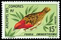 Cl: Red-headed Fody (Foudia eminentissima) SG 62 (1967) 750