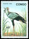 Cl: Secretarybird (Sagittarius serpentarius)(Repeat for this country)  SG 1312 (1992) 65