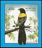 Cl: Yellow-shouldered Widowbird (Euplectes macrourus)(Repeat for this country)  new (1993)  [4/1]