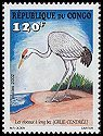 Cl: Common Crane (Grus grus) <<Grue cendree>> (Stylised)  SG 1505 (2002)  [5/48]