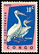 Cl: Great White Pelican (Pelecanus onocrotalus) <<Pelicans>>  SG 468 (1963) 10 [3/9]