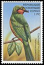 Cl: Four-coloured Bushshrike (Telophorus viridis) <<Gladiateur multicolore>>  SG 1564 (2000)