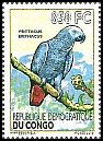 Cl: Grey Parrot (Psittacus erithacus)(I do not have this stamp)  new (2012)