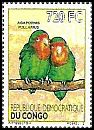 Cl: Red-headed Lovebird (Agapornis pullarius)(I do not have this stamp)  new (2012)